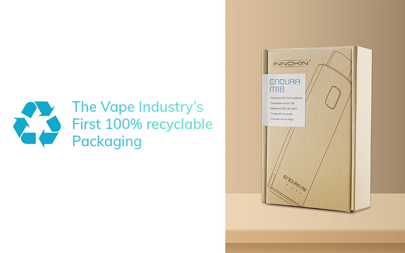 Innokin launches the vape industry's first 100% recyclable packaging