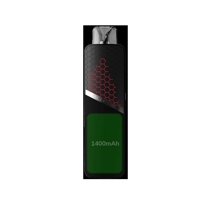 1400mAh Battery Capacity